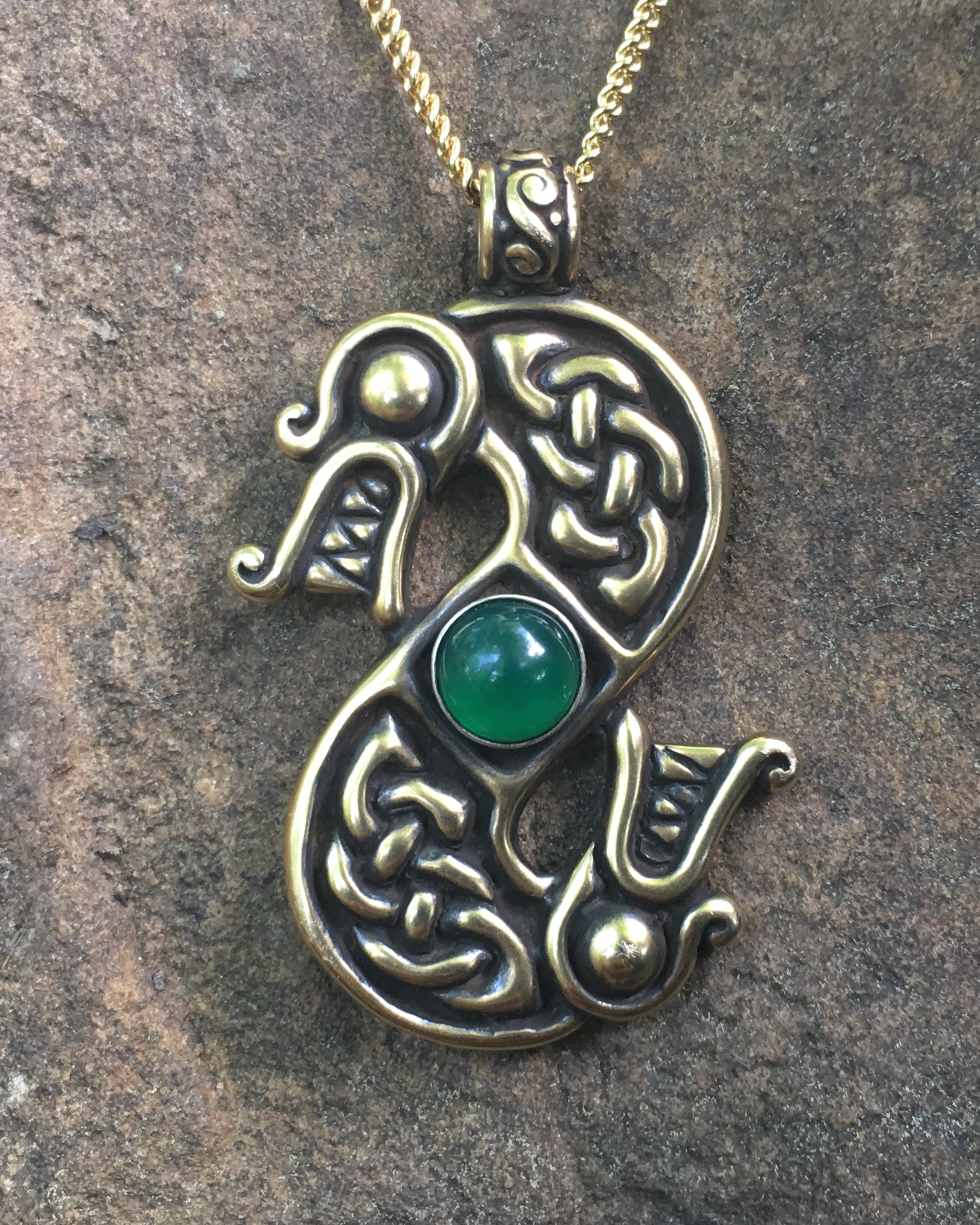 Double headed dragon pendant necklace crafty celts double headed dragon pendant necklace aloadofball Gallery