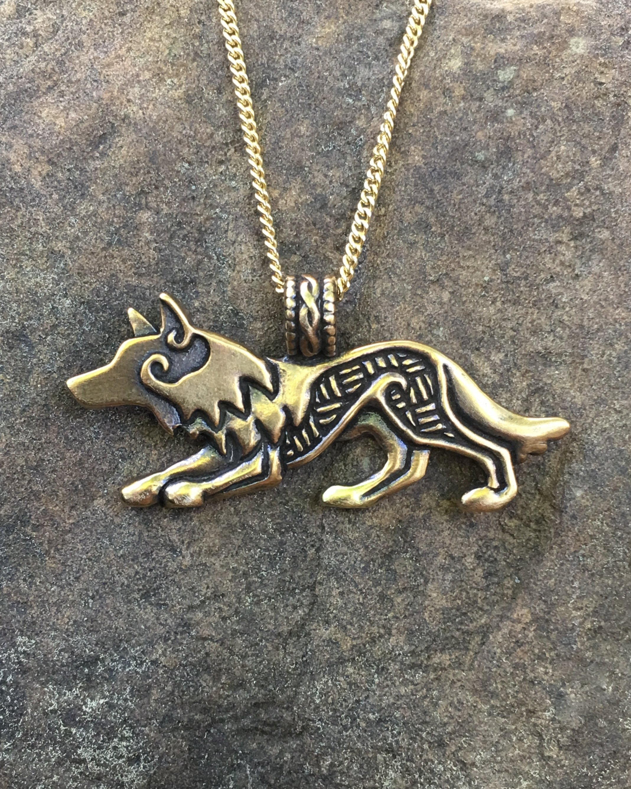 shadow necklace wolf jewelry series i cholo pendant lobo han products head