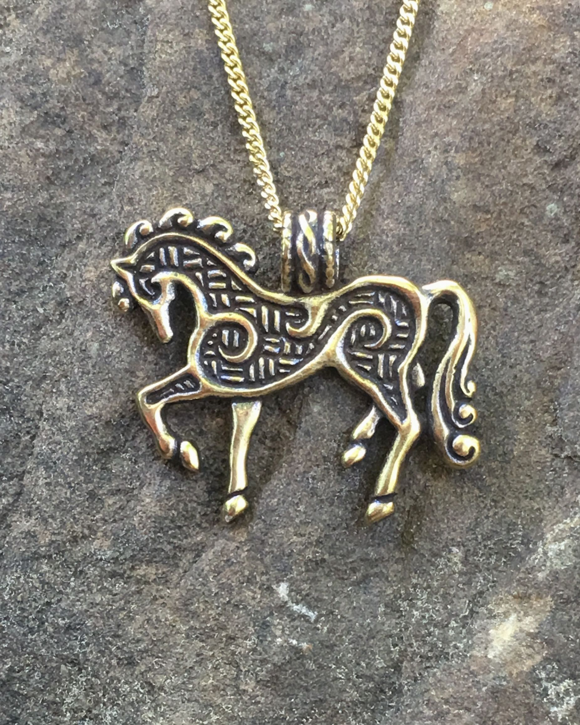 pin horse pole swarovski necklace gorgeous with rodeo bending bender crystals lover