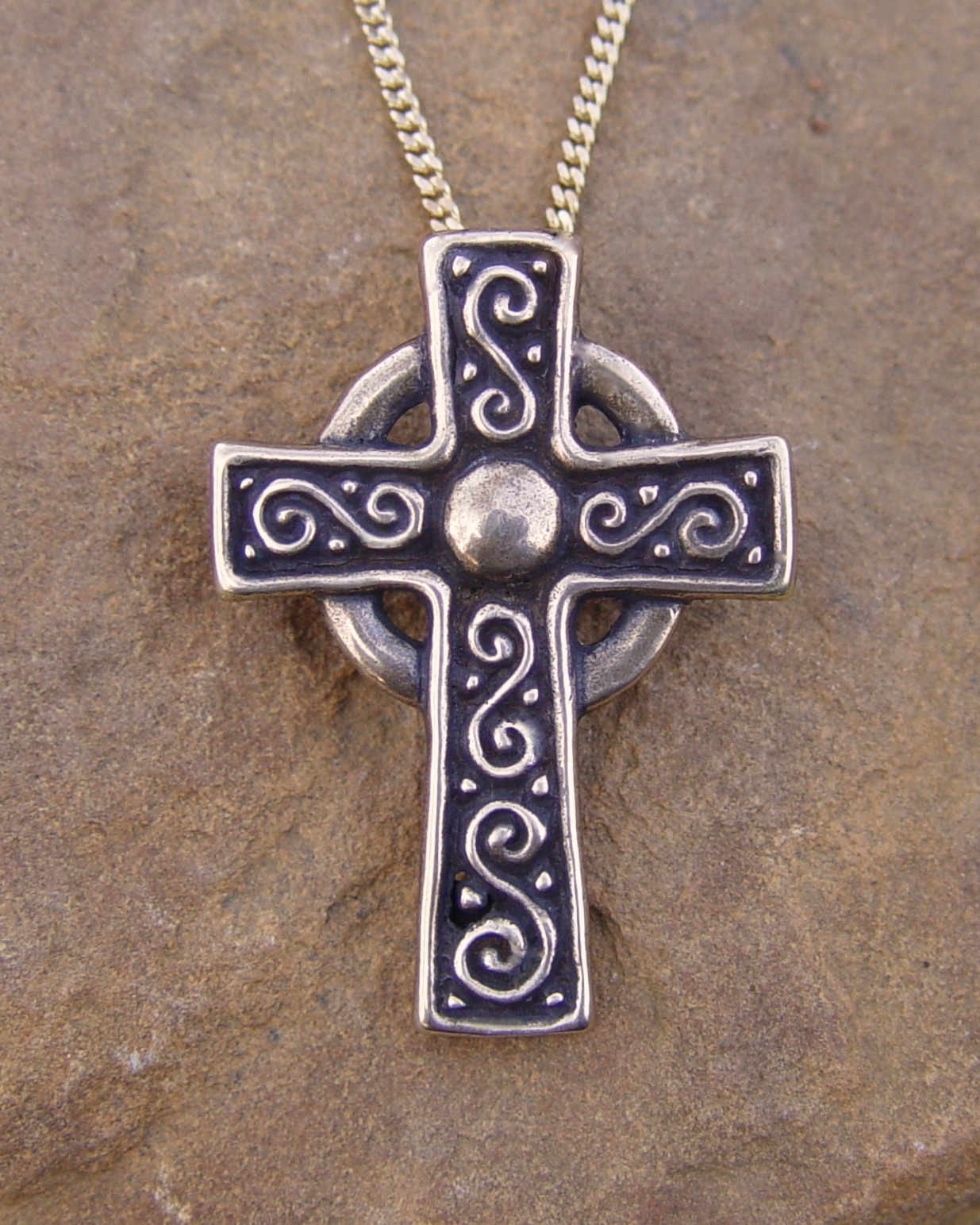 with necklace gemstone pendant jewelry sterling celtic cross bling silver garnet