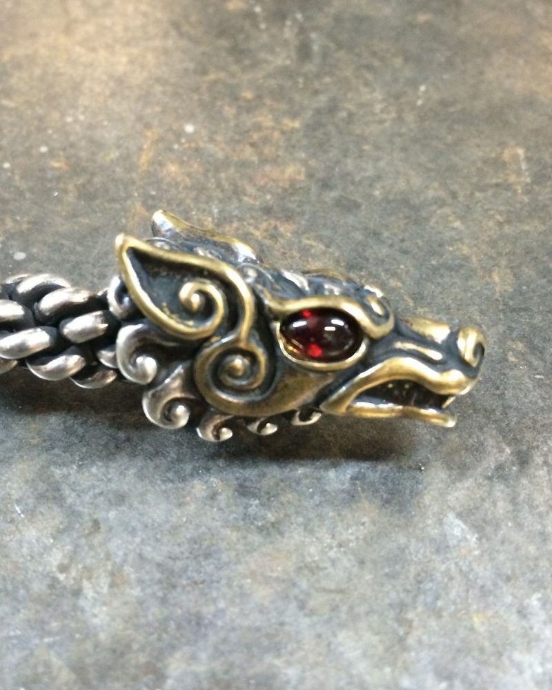 Jeweled Celtic Wolf Torc