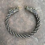Medium Braid Celtic Dragon Bracelet Image